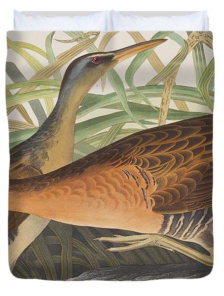 Fresh Water Marsh Hen Duvet Cover