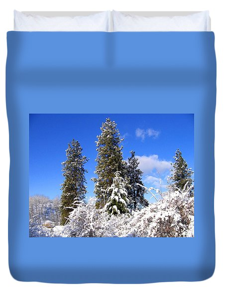 Duvet Cover featuring the photograph Fresh Winter Solitude by Will Borden