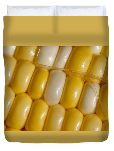 Fresh Yellow Corn Duvet Cover