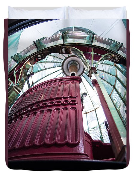 Duvet Cover featuring the photograph Fresnel Lens At Point Reyes by Suzanne Luft