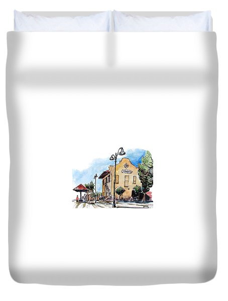 Old Fresno Depot Duvet Cover by Terry Banderas