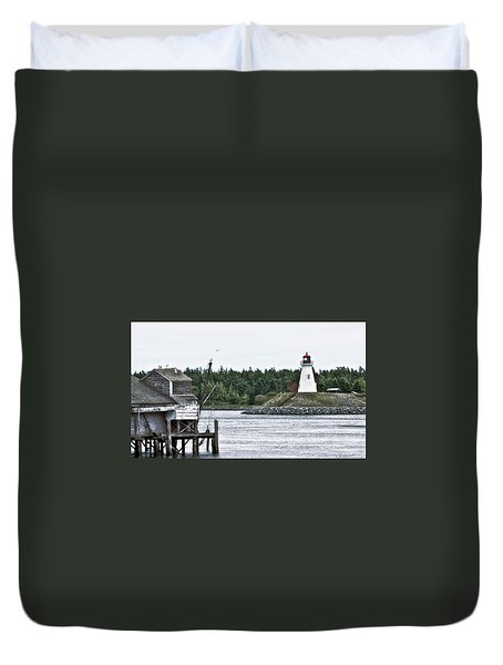 Friar's Head Lighthouse Duvet Cover