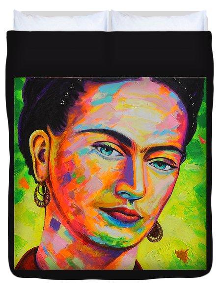 Frida Duvet Cover by Angel Ortiz