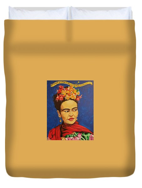 Frida Kahlo Duvet Cover by Autumn Leaves Art