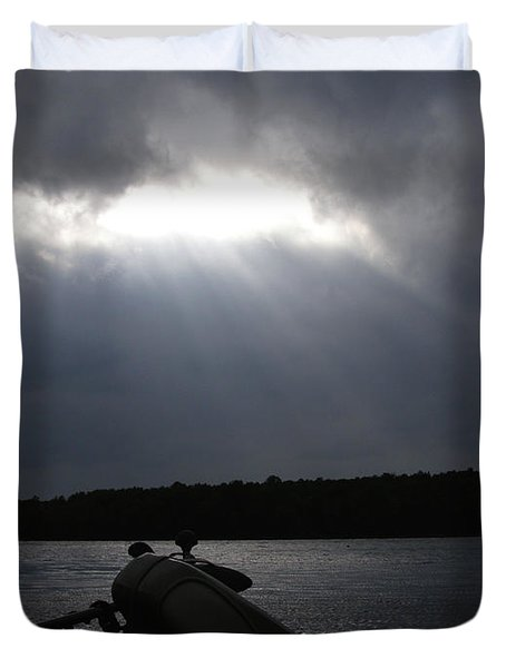 Duvet Cover featuring the photograph Friday Night Fish Fry Reservations by Angie Rea