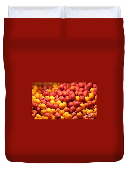 Duvet Cover featuring the photograph Fried Sweet Potato Balls by Yali Shi