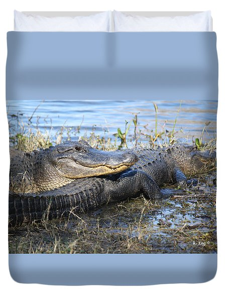 Friend, I Got Your Back Duvet Cover by Roena King