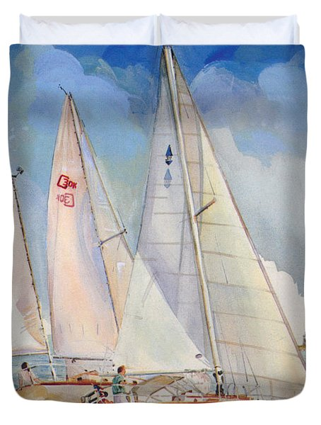 Friendly Competition Duvet Cover