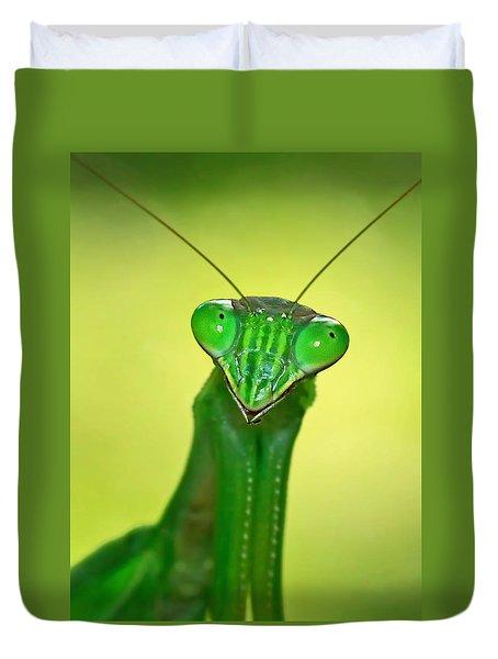 Friendly Mantis Duvet Cover