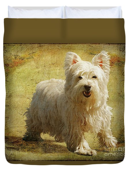 Friendly Smile Duvet Cover by Lois Bryan