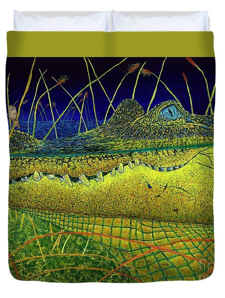 Swamp Gathering Duvet Cover