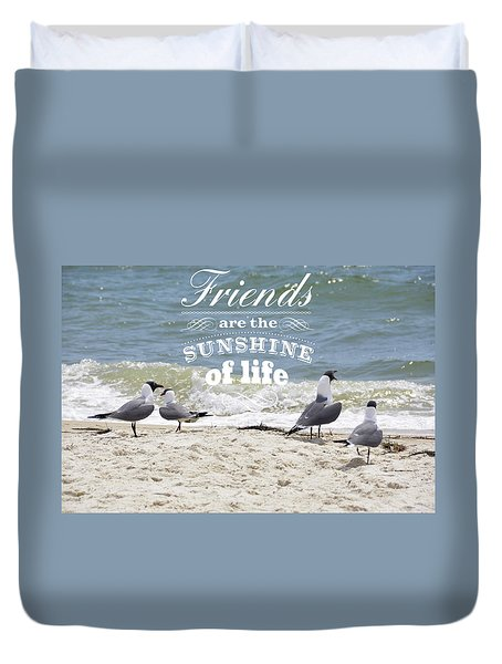 Duvet Cover featuring the photograph Friends In Life by Jan Amiss Photography