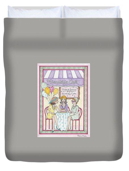 Friendship Cafe Duvet Cover