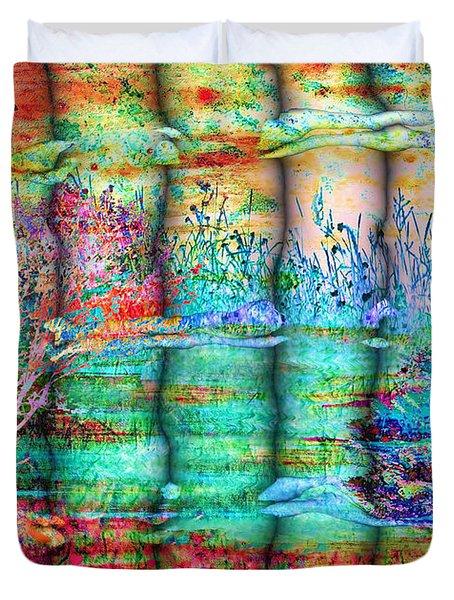 Friendship Duvet Cover by Valerie Anne Kelly
