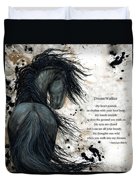 Friesian Dreamwalker Horse Duvet Cover
