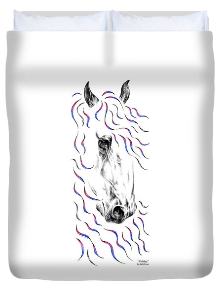 Friesian Horse Nobility Duvet Cover