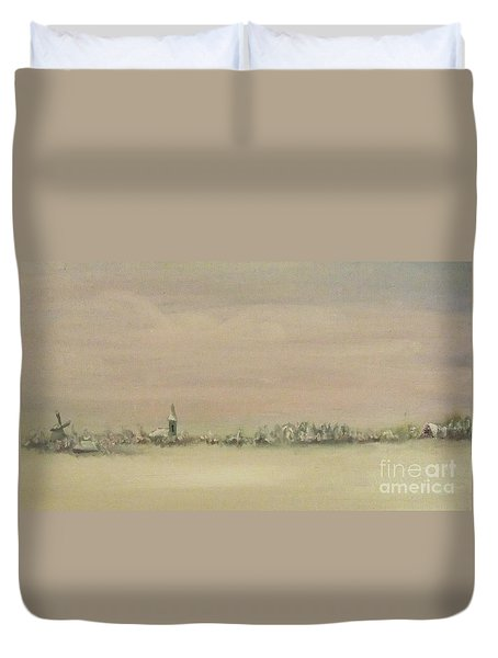 Friesland Under Snow Duvet Cover by Annemeet Hasidi- van der Leij