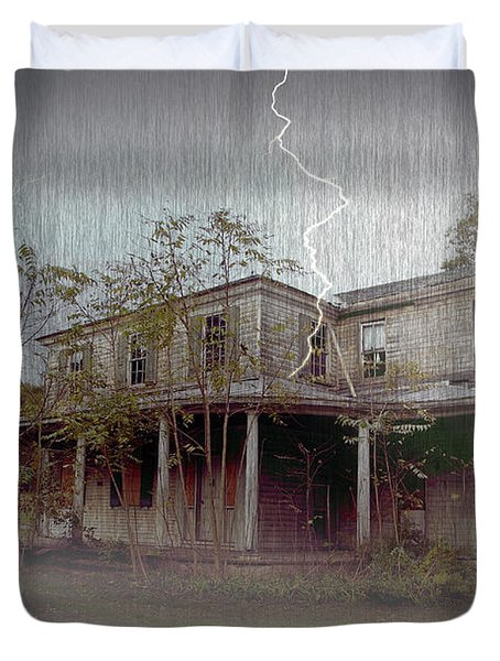 Frightening Lightning Duvet Cover by Brian Wallace