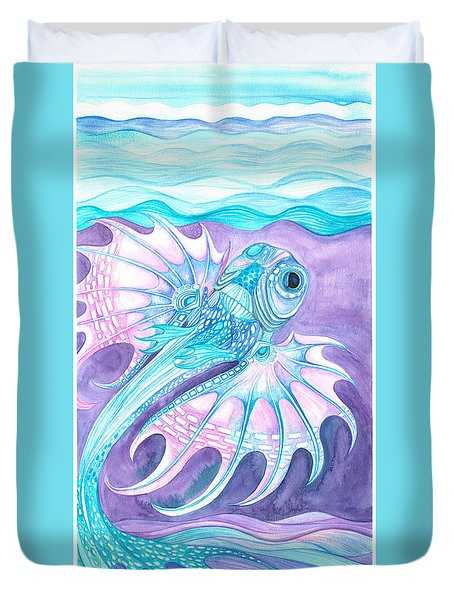 Frilled Fish Duvet Cover by Adria Trail