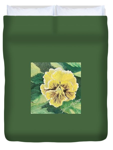 Frilly Yellow Pansy Duvet Cover