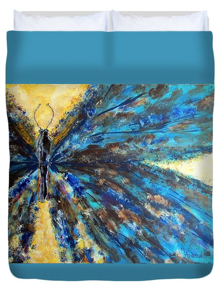Fringed Duvet Cover by Mary Arneson