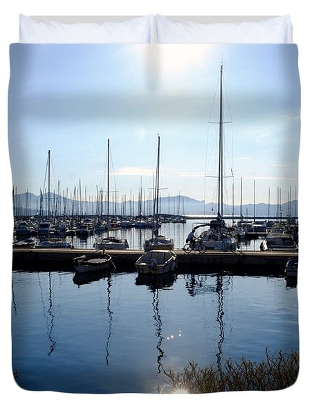 Frioul Island Sailing Resort Duvet Cover