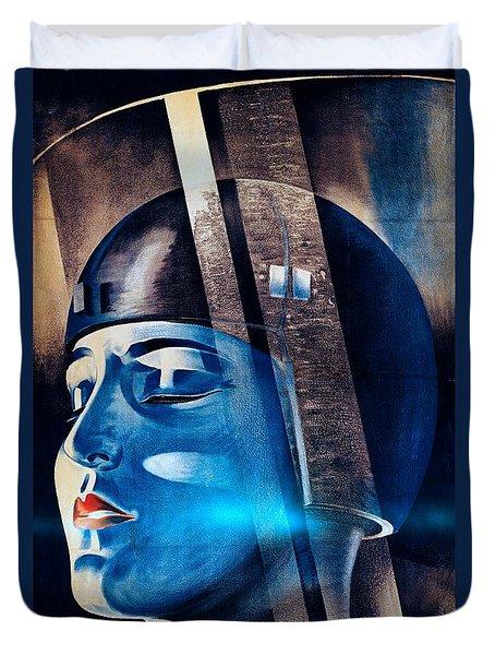 Fritz Langs Metropolis Movie Poster 1926 Duvet Cover