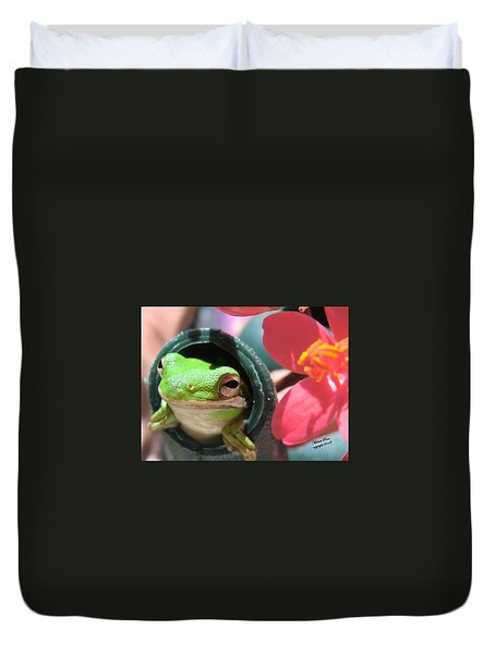 Frog At Selby Duvet Cover by Michele Penn