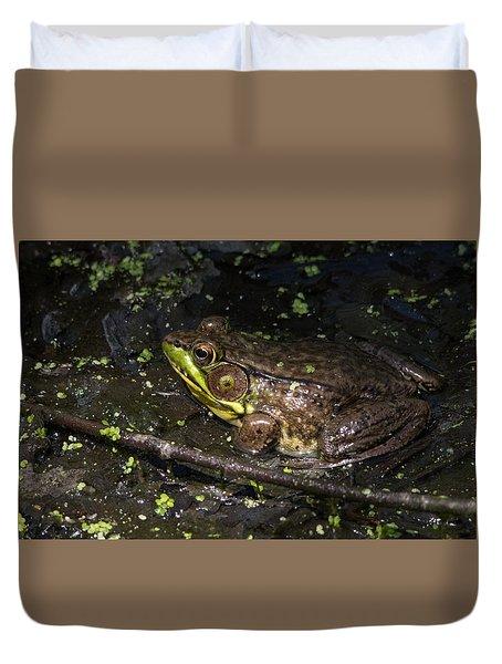 Frog Closeup Duvet Cover