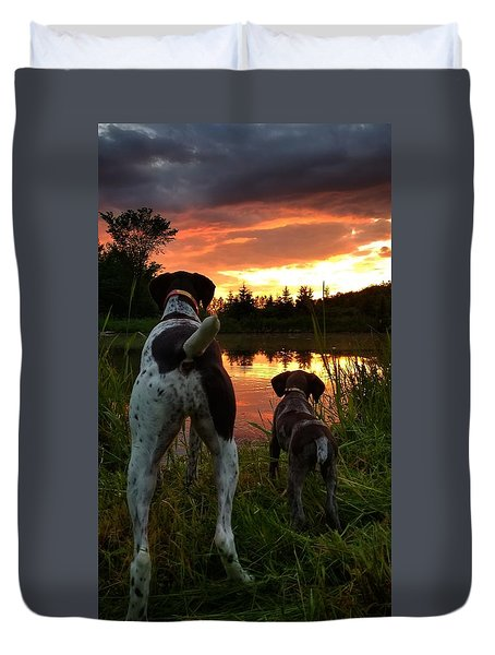 Frog Hunters 2 Duvet Cover