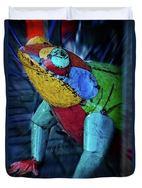 Duvet Cover featuring the photograph Frog Prince by Mary Machare