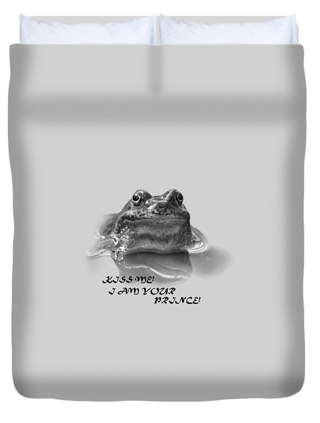 Duvet Cover featuring the photograph Frog The Prince by Jivko Nakev