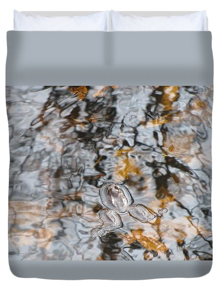 Froggy Abstract 1031 Duvet Cover by Maciek Froncisz