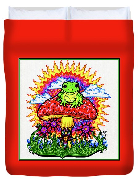 Froggy For Mukunda Duvet Cover