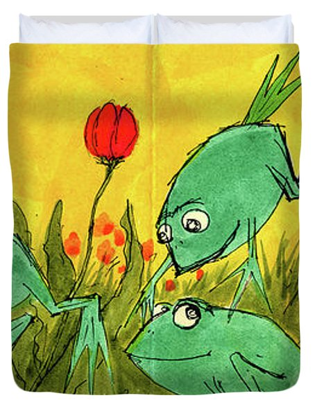Frogs Duvet Cover