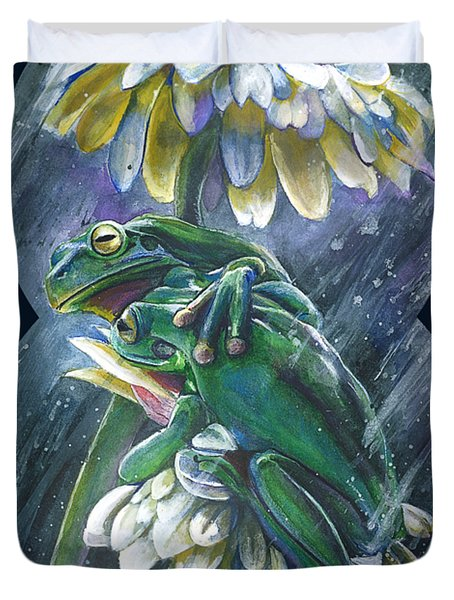 Frogs- Optimized For Shirts And Bags Duvet Cover