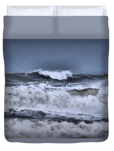 Duvet Cover featuring the photograph Frolicsome Waves by Jeff Swan