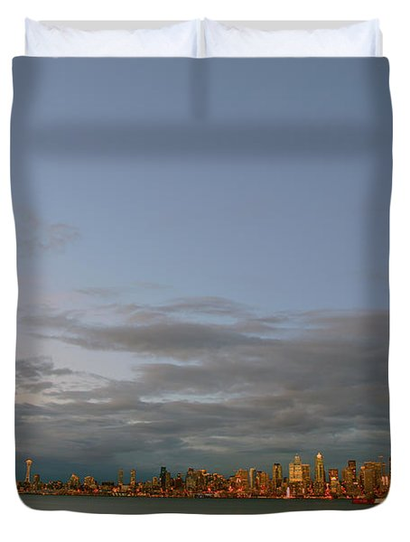 From Alki - Cloudy Night Duvet Cover