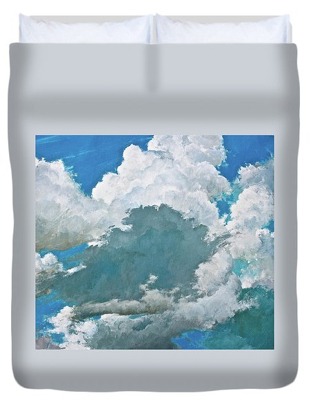 Duvet Cover featuring the painting From Both Sides Now by Cliff Spohn