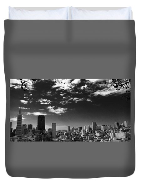 From Coit Tower Duvet Cover