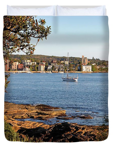 Duvet Cover featuring the photograph From Delwood Beach by Nicholas Blackwell