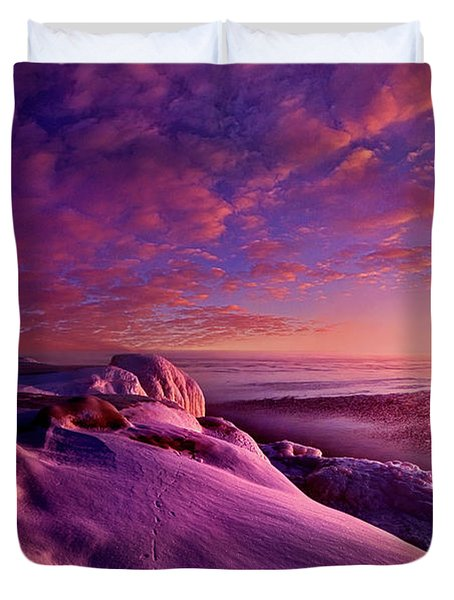 Duvet Cover featuring the photograph From Inside The Heart Of Each by Phil Koch