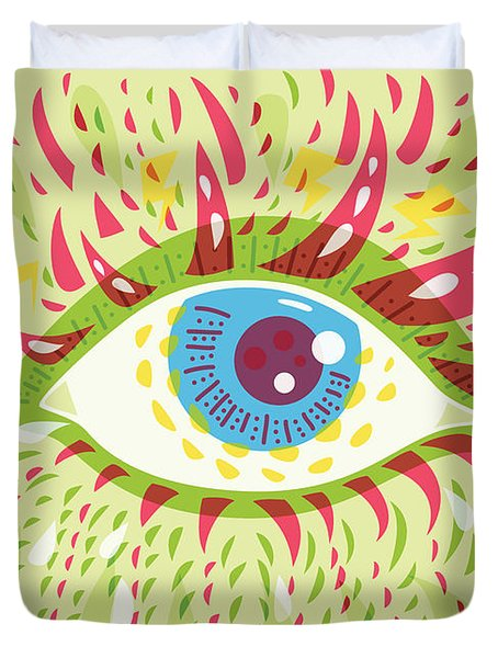 From Looking Psychedelic Eye Duvet Cover