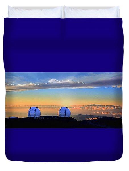 From Mauna Kea To Haleakala Duvet Cover by DJ Florek