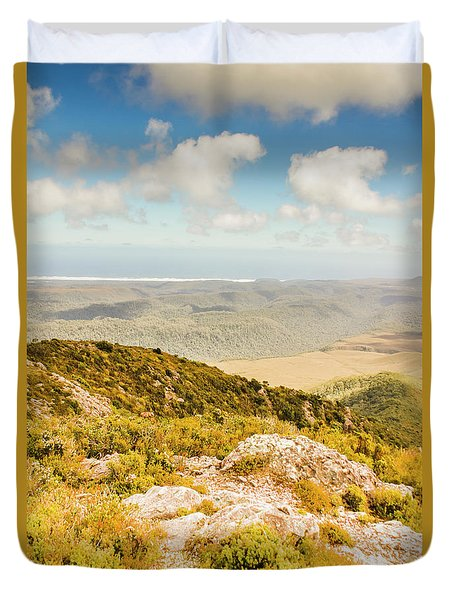 From Mountains To Seas Duvet Cover