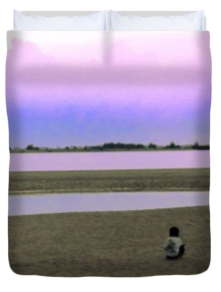 From My #photoarchive... Lonely #child Duvet Cover by Pierz Photos Work