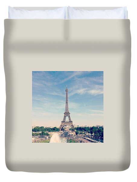 From Paris With Love Duvet Cover