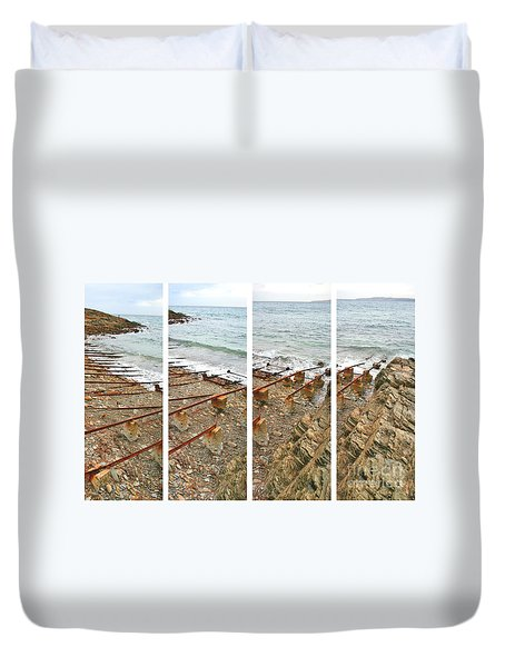 Duvet Cover featuring the photograph From Ship To Shore by Stephen Mitchell