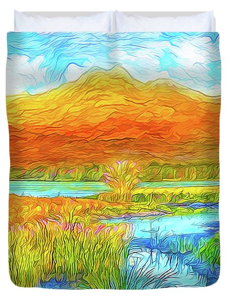 From Sky To Mountain To Stream - Boulder County Colorado Duvet Cover by Joel Bruce Wallach