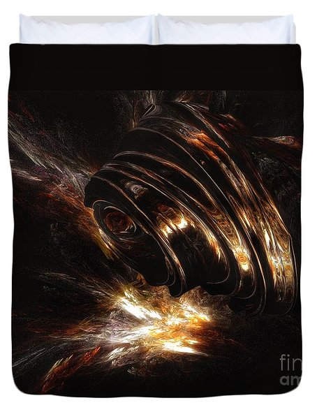 Duvet Cover featuring the digital art From The Beyond by Isabella F Abbie Shores FRSA